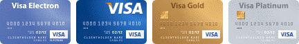 Оплата по кредитным картам VISA
